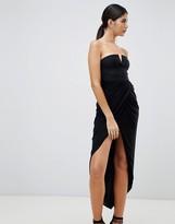 Rare London wrap drapre midi dress