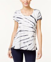 Style&Co. Style & Co. Tie-Dyed T-Shirt, Only at Macy's