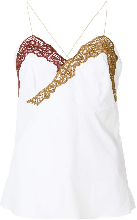 Marco De Vincenzo contrast lace top