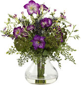 Asstd National Brand Nearly Natural Mixed Morning Glory With Vase