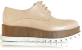 Jil Sander Nude Leather Platform Oxford Shoe