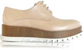 Jil Sander Nude Leather Wedge Oxford Shoe