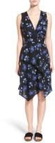 Proenza Schouler Asymmetrical Floral Print Wrap Dress