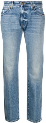KHAITE Light Wash Straight-Leg Jeans