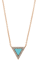 Diane Kordas Diamond, turquoise & rose-gold necklace