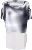 Fay Cropped Striped T Shirt