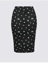 M&S Collection Printed Pencil Midi Skirt