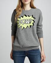 Autumn Cashmere Pow-Intarsia Boyfriend Cashmere Sweater