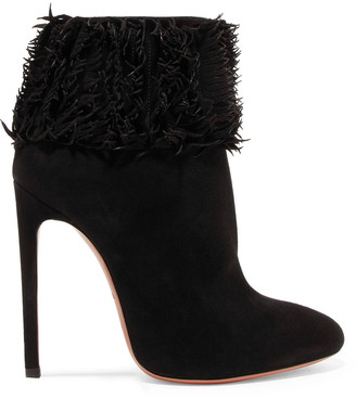 Alaia Fringed Suede Boots