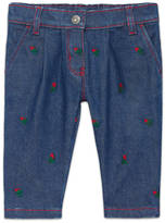Gucci Baby denim pant with embroidery
