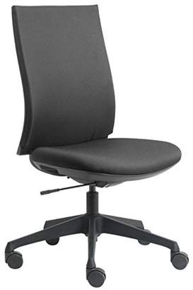 Camilla And Marc Euroseats Canillo Home and Office Chair, Fabric, Black, 43 x 50 x 110 cm