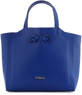 Furla Kawaii Leather Tote Bag, Blue Laguna