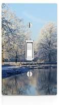 MWCustoms Beautiful Winter Pond Art Light Switch Plate