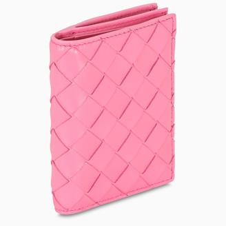 Bottega Veneta Black woven leather mini wallet