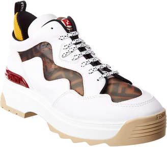 Fendi T-Rex Ff Mesh & Leather Sneaker