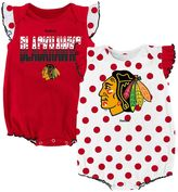 Reebok Baby Chicago Blackhawks Polka-Dot Bodysuit Set