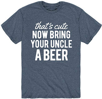 Instant Message Mens Men's Tee Shirts HEATHER - Heather Blue 'Now Bring Your Uncle A Beer' Tee - Men