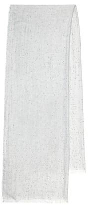 Brunello Cucinelli Sequined cashmere and silk scarf
