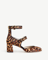 Ann Taylor Arielle Leopard Print Haircalf Mary Jane Pumps