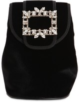 Roger Vivier BROCHE MINI VELVET BACKPACK
