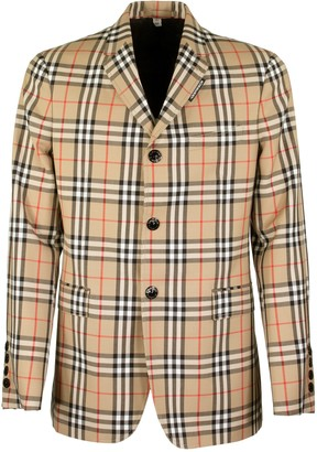 Burberry Slim Fit Vintage Check Wool Mohair Tailored Jacket