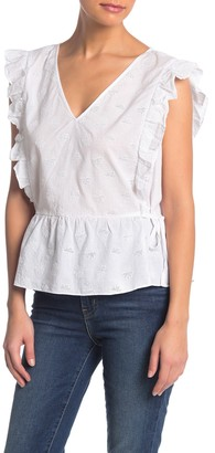 Madewell Peplum Woven Top (Regular & Plus Size)