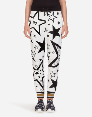 Dolce & Gabbana Millennials Star Print Jersey Jogging Pants