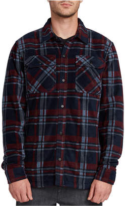 Volcom Men Bower Plaid Polar Fleece Shirt Jacket