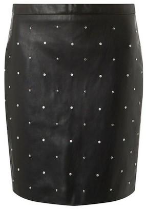 Dorothy Perkins Womens **Tall Black Pu Mini Skirt, Black