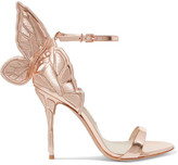 Sophia Webster Chiara Embroidered Metallic Leather Sandals - Pink