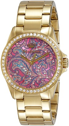 Juicy Couture Womens Quartz Watch Analogue Classic Display and Gold Plated Strap 1901424