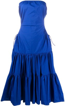 Loulou Tiered Strapless Dress