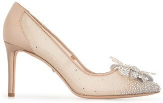 Badgley Mischka Gilda crystal-embellished pumps