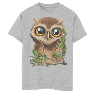 Fifth Sun Boys 8-20 Cute Owl Face On A Branch Graphic Tee