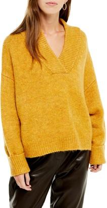 Topshop Deep V-Neck Sweater