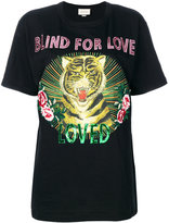 Gucci Blind for Love tiger print T-shirt