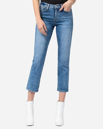 Express Flying Monkey Mid Rise Straight Cropped Jeans