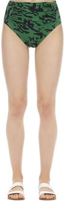 Self-Portrait High Waist Lycra Bikini Bottoms