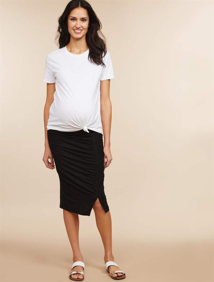 Under Belly Pencil Fit Maternity Skirt