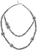 Max Mara Weekend Ranch long black pearl necklace
