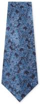 Chanel Vintage Blue Feather Silk Tie