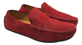Gucci Red Suede Flats