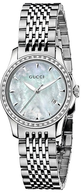 Gucci G-Timele 27mm Stainle Steel with Diamond Watch-YA126506 Watche