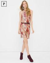 White House Black Market Petite Sleeveless Mock Neck Dress