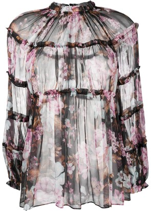 Zimmermann Charm floral-print silk blouse