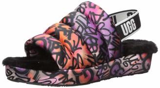 UGG Women's Puff Yeah POP Graffiti Wedge Sandal