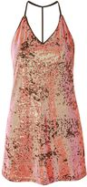 Oh My Love **T-Bar Sequin Shift Dress