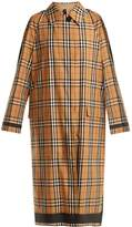 Burberry Point-collar bonded-cotton reversible trench coat