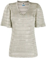 M Missoni v-neck sheer T-shirt