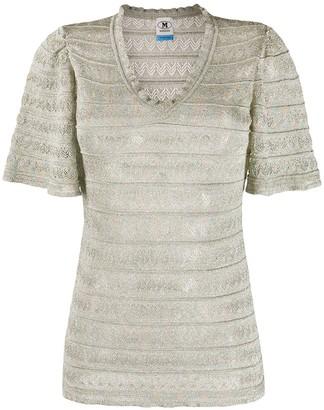 M Missoni v-neck sheer T-shirt